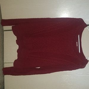 Maroon Low Cropped Sweater (XXL)